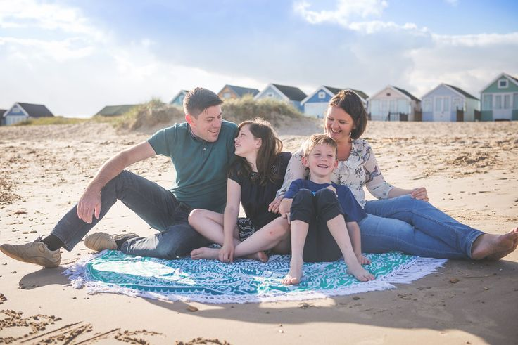 Lifestyle Family Photography at Mudeford Beach, Dorset.