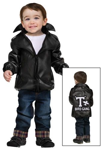 I tried as best I could to find this Boy T-Bird Gang Jacket in a Large for Greysen's halloween costume. No luck! This jacket is adorable!!!