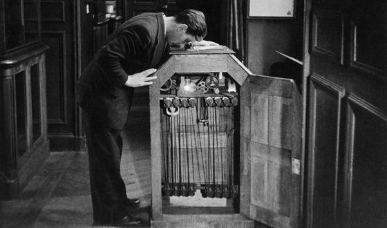 Kinetoscopio de Edison.