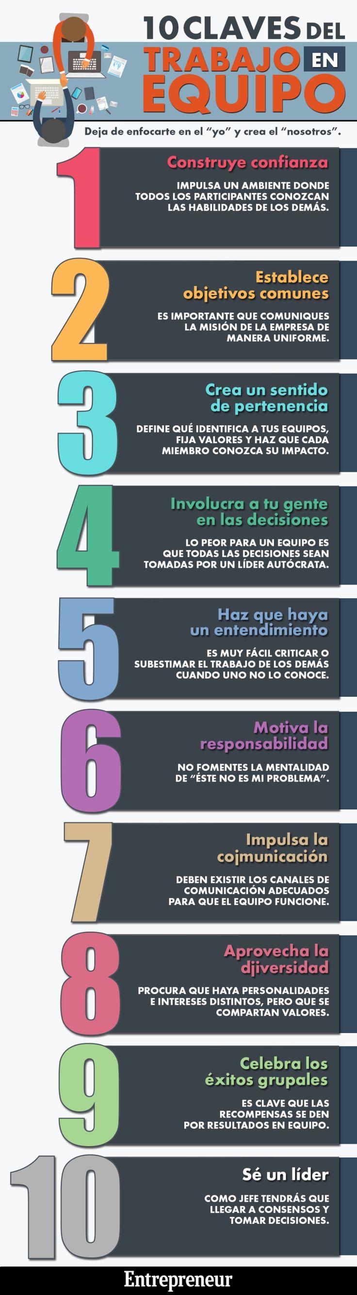 10 claves del trabajo en equipo #infografia #infographic #rrhh