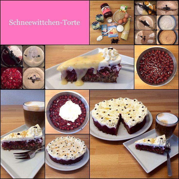 Das Original-Rezept stammt von der lieben Arabella: Danke dafür! Ein wirklich märchenhaftes Kalorienbömbchen!!! Kirsch-Nuss-Torte mit Sahnehaube und (wer mag) Eierlikör 26-er Spr...