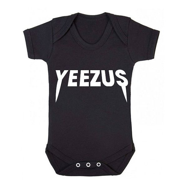 Yeezus baby vest kanye tour west jay z beyonce music hip hop rap chart... ($15) ❤ liked on Polyvore featuring baby