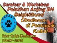 Seminar & Workshop Pelatihan Anjing BH Begleithund Obedience di Pontianak, Kalimantan Barat
