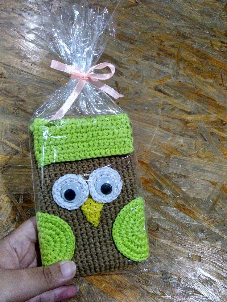 Owl pouch crochet