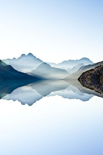 ombré sky - The Lake [Italy, Dolomites] by acosmichippo
