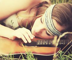 hippie: Music, Senior Pictures, Girl, Hippie, Style, Guitar, Things, Photography, Picture Ideas
