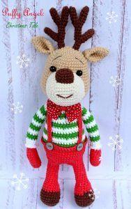 Le renne de Noel avec son tuto Français et gratuit