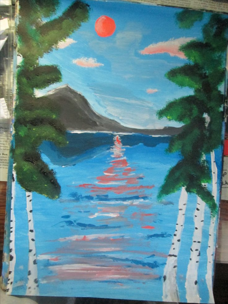 My third acrylic painting..