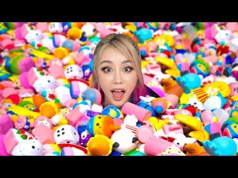93ca05d0bc8 Spending 24 Hours In A GIANT Squishy Pit Challenge! - YouTube ...