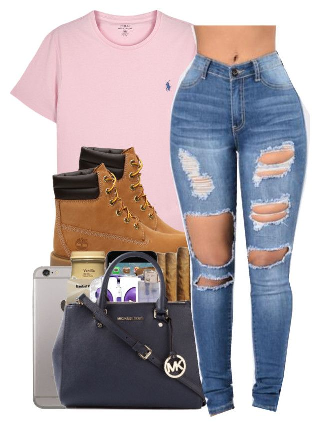 """Untitled #253"" by goldenbarbiie ❤ liked on Polyvore featuring Polo Ralph Lauren and Timberland"