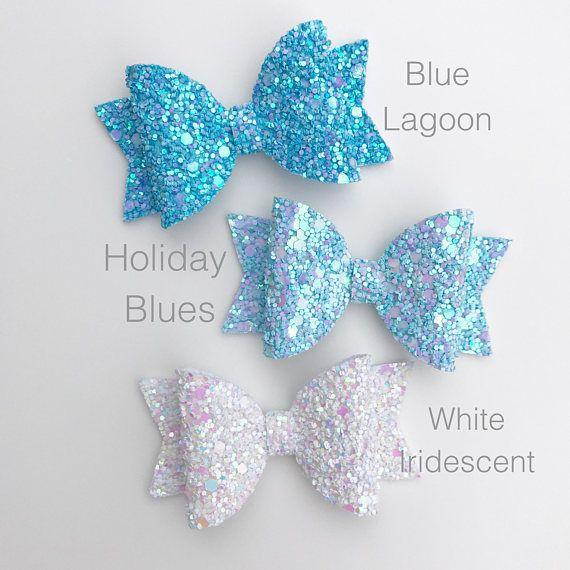 baby bow newborn bow glitter hair bow chunky glitter hair bow Glitter bow girls hair bow Pink girls bow