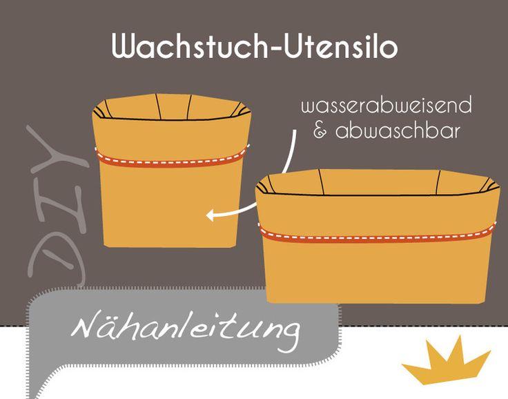 DIY+Näh-Anleitung+/+e-Book+Wachstuch-Utensilo+von+unicus-shop:+EINZIGARTIGES+HANDGEMACHT.+auf+DaWanda.com