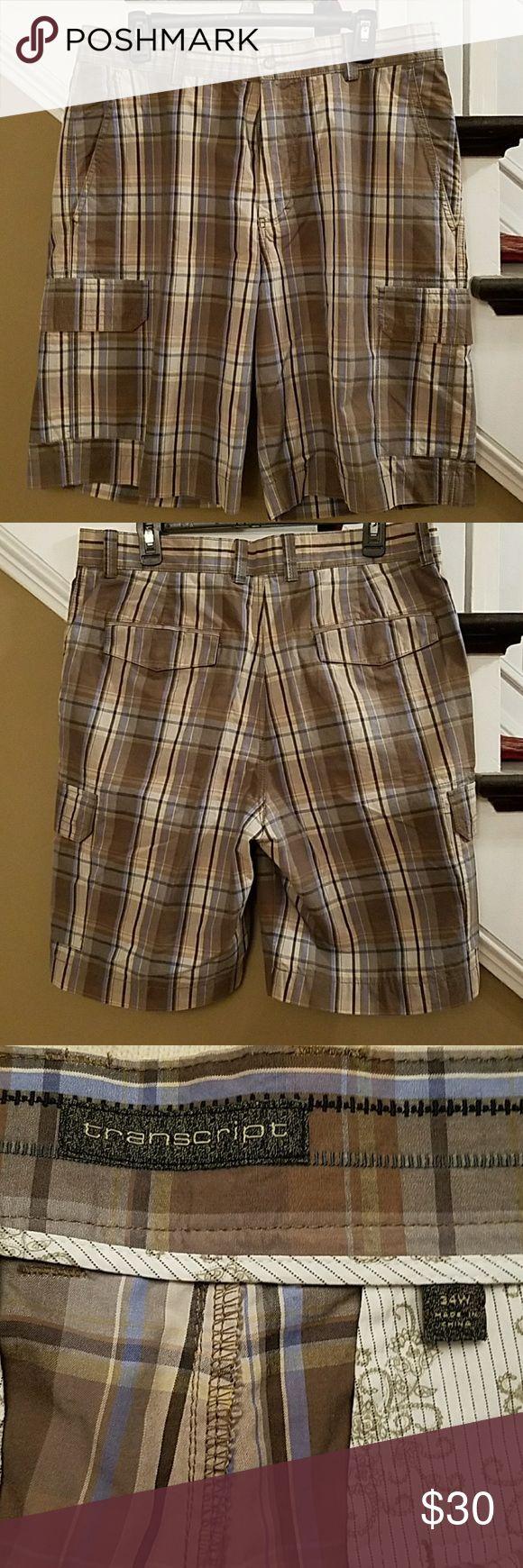 Transcript Bermuda Shorts mens Size 34, 100% cotton euc Transcript Shorts