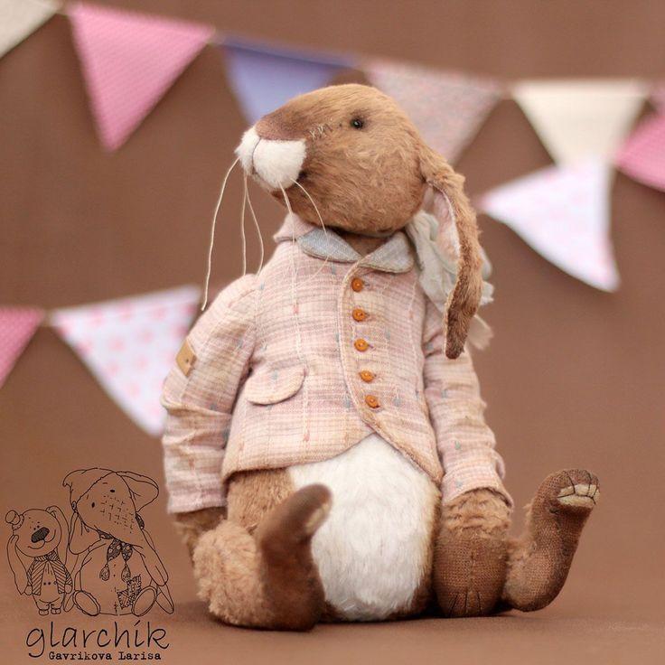 Купить Кролих Вачинто - кролик, кролики, кролик игрушка, кролик тедди, авторская игрушка