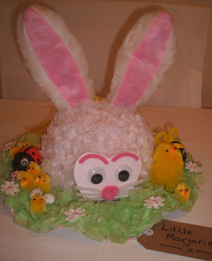 White Rabbit Easter Bonnet