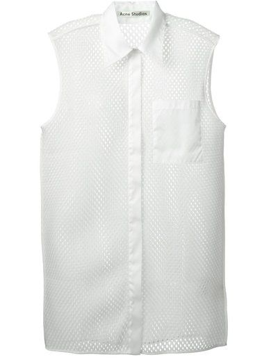 Acne Studios Perforated Sleeveless Shirt