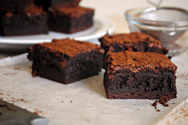 Spicy Chocolate Chili Truffle Brownies. | Food | Pinterest