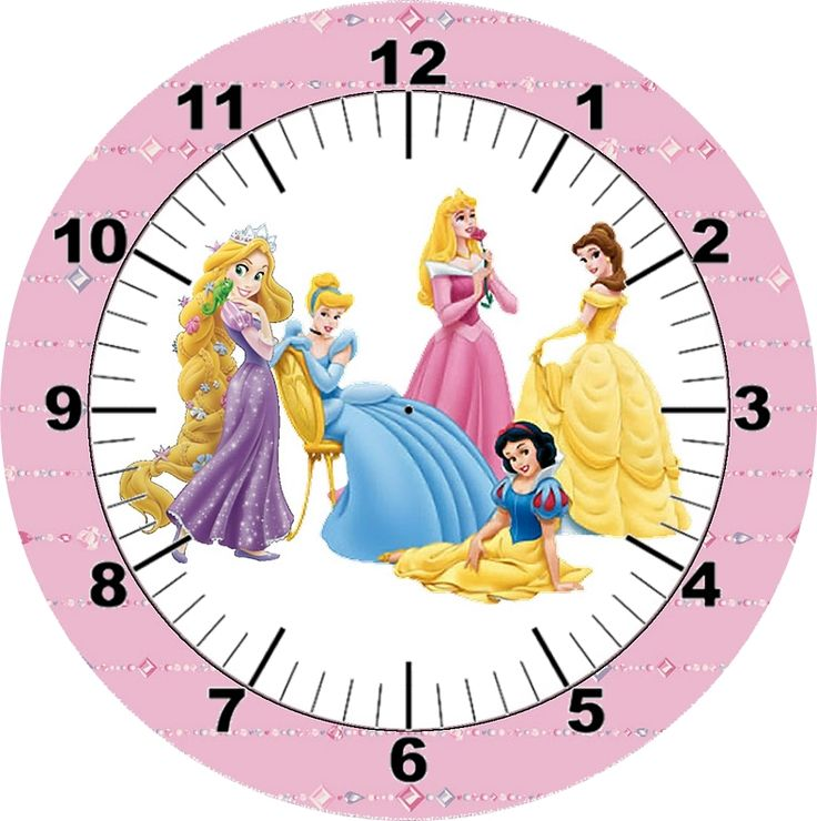 .disney princess clock