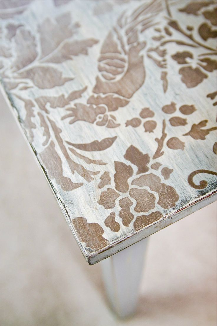 Stenciled Coffee Table 3 - offbeat + inspired