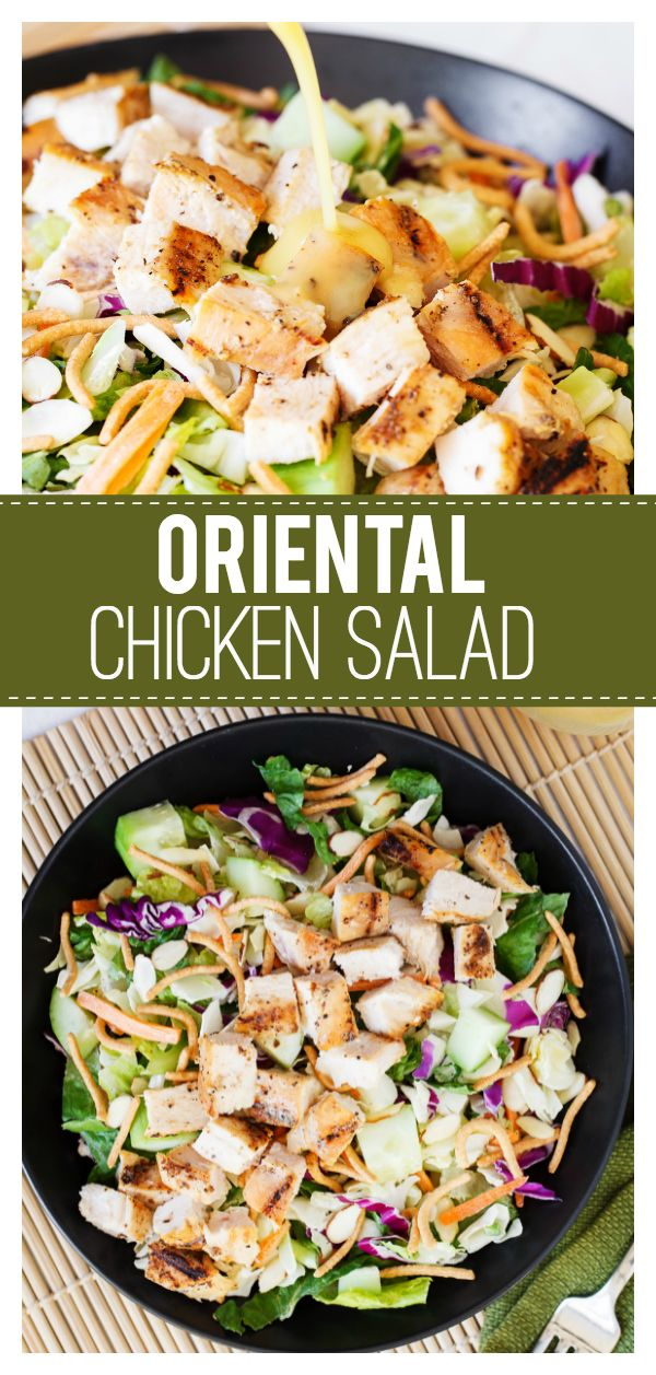 Easy Oriental Chicken Salad: a delicious salad that is perfect all year round! Grilled chicken and lots of veggies makes…