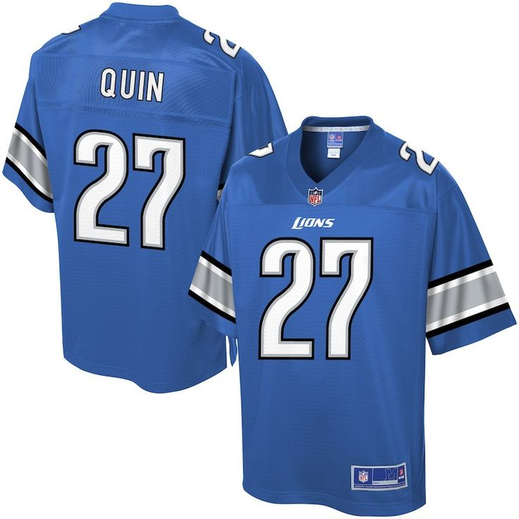 Pro Line Men's Detroit Lions Glover Quin Team Color NFL Jersey