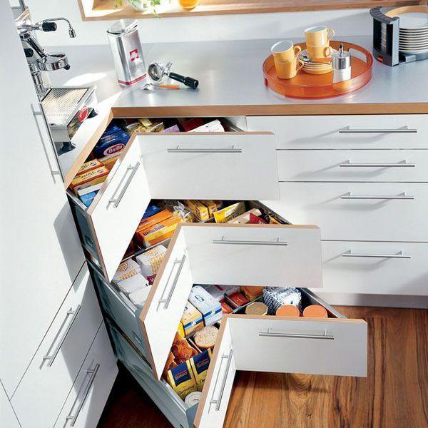 17 meilleures id es propos de placard d 39 angle de cuisine for Astuce rangement placard cuisine