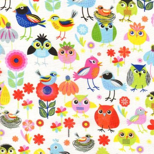 Birds+of+a+feather,+10+cm+Látka+s+motivem+ptáčků.+Látka+se+dá+krásně+kombinovat+s+puntíky+a+proužky+z+kolekce+Sun+Kissed+od+Benartex.+materiál:+100%+bavlna+šířka:+110+cm+země+původu:+USA/Korea+ +Minimální+objednávka+je+2ks+=+20cm,+dále+pak+po+10ti+centimetrech.