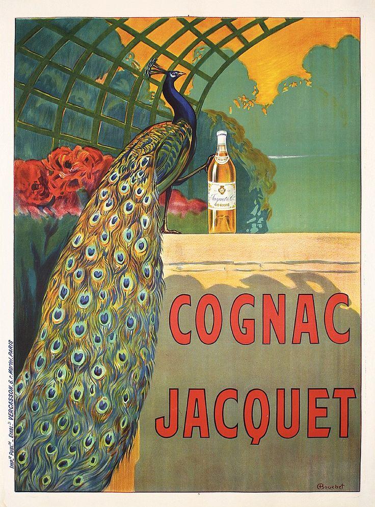 Bouchet, Camille  1799 - 1890.   Cognac Jacquet.   Lithograph ca. 1887.   Size: 63.3 x 47.2 in. (161 x 120 cm).   Printer: Vercasson, Paris.   Condition Details: (A-) was folded horiz., on linen.