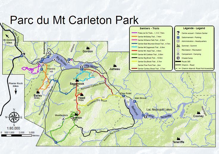 Mount Carleton Provincial Park trail map | New Brunswick, Canada #NBParks