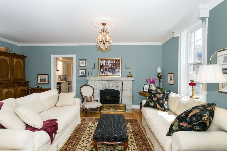 Sherwin Williams Moody Blue (SW6221) | Blue living room ...