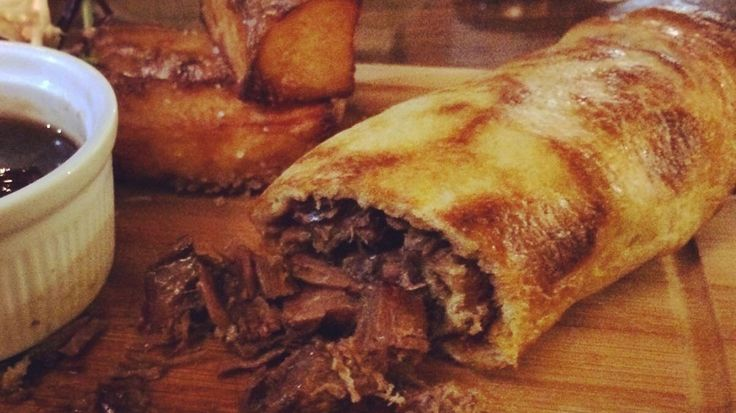 The chefs at Long Can Hall in Halifax, West Yorkshire, have created a British burrito made from a giant Yorkshire pudding and slow-roasted beef.