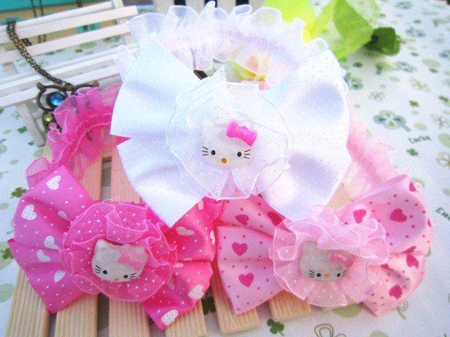 Freeshipping!! NEW hello kitty baby elastic lace headbands/bow hairbands / Hair Accessories / Wholesale-in Hair Accessories from Apparel & Accessories on Aliexpress.com
