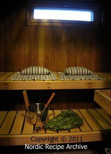 Finnish Christmas sauna