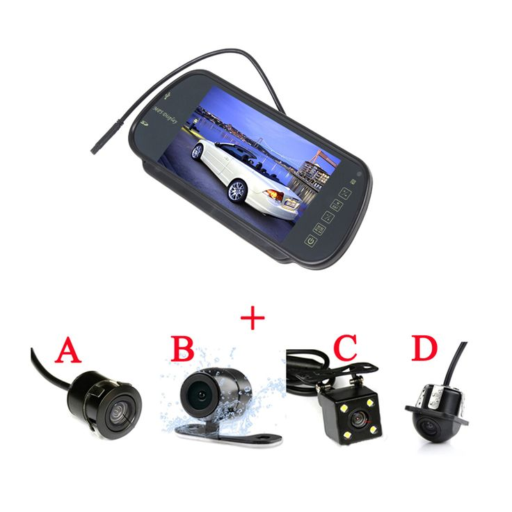 """7"""" LCD Car Rear View Mirror Monitor Parking Rearview Monitor with 170 Degrees CCD Waterproof Car Reverse Camera Parking Assist"""