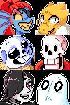 "chemic-sans: "" UNDERTALE BATCH - free icons by CaptainKees """