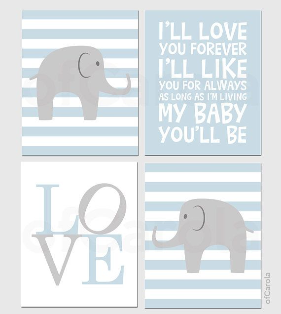 Elephant Wall Art Boy Nurseries And Wall Art Prints On Pinterest