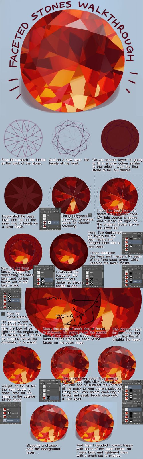 How to color gems in Photoshop - by Vivi (VVNNG)