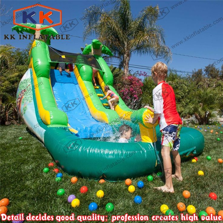 >> Click to Buy << Kids backyard playing game inflatable water slide with ball pond #Affiliate