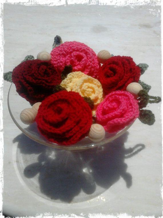 Wedding Favor, Wedding Guest Gift, Wedding Table Decor, Crochet ROSE - gift wrap - handmade crochet with hidden sachet for candy and other #handmade #etsymnt
