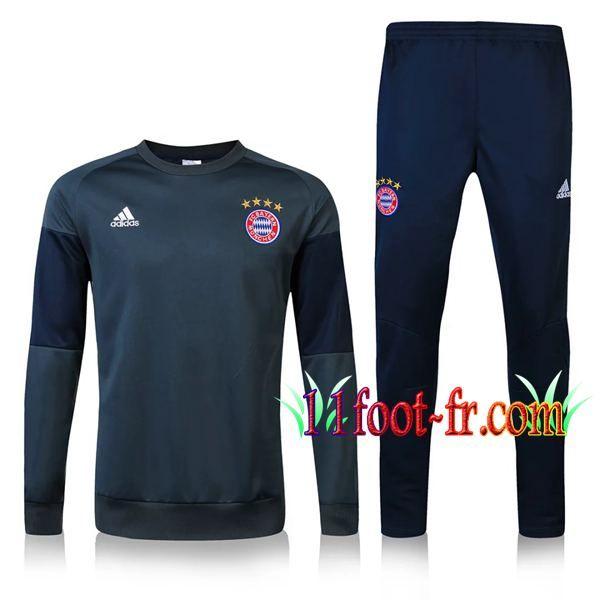 Nouveaux: 11Foots-fr Survetement Bayern Munich 2016-17 Noir/Gris