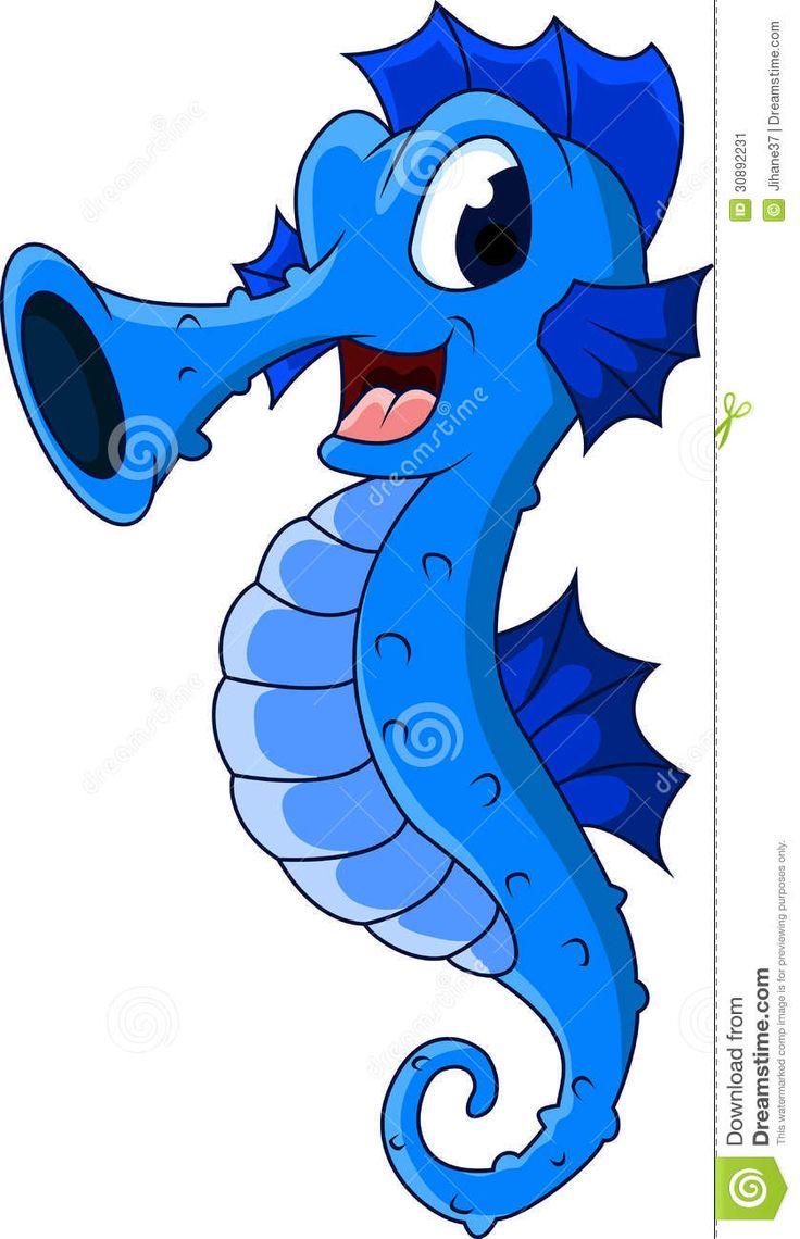 Cute seahorses cartoon Seahorses