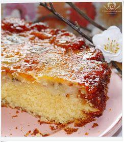 Receita fácil de bolo de laranja e banana caramelada