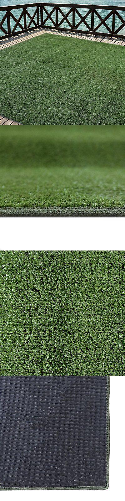 Synthetic Grass 181031: Outdoor Turf Rug Green Artificial Grass Indoor Deck  Patio Carpet Mat 12