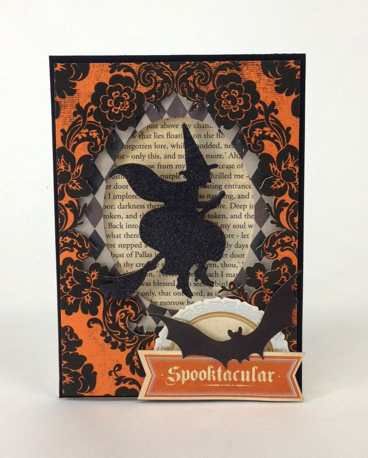 Create a spooky card using Totten Griffin Inc.u0027s Halloween Cricut cartridge! & 41 best Anna Griffin Halloween images on Pinterest | Halloween ... pezcame.com