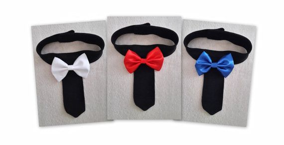 Pet Necktie Collar, Dog Tie Collar, Dog Wedding Collar, Cat Tie Collar,Cat Necktie ideal for formal occasions with a choice of Bow Tie Color