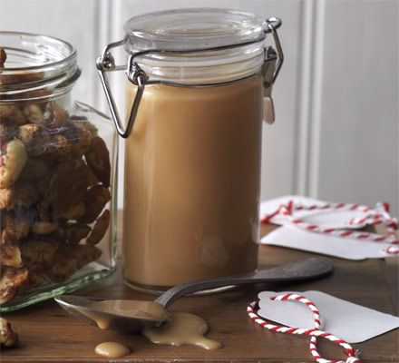Caramel & whisky sauce. This thick and boozy toffee sauce can be put into jars and given as a gift, or serve a dollop with warming desserts.