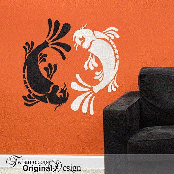 51 best images about floor logos on pinterest compass for Koi wall sticker
