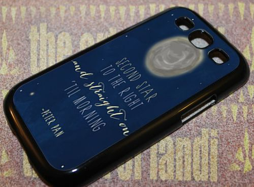 Disney Peter Pan Quotes For Samsung Galaxy S3 Black Rubber Case