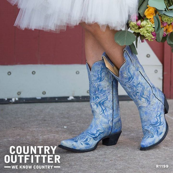 Cowgirl Boots Under My Wedding Dress Instead Of Hells Because We All Know Me And Heels Dont Mix Lol