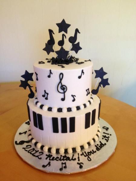 music themed cake   Main Made Custom Cakes